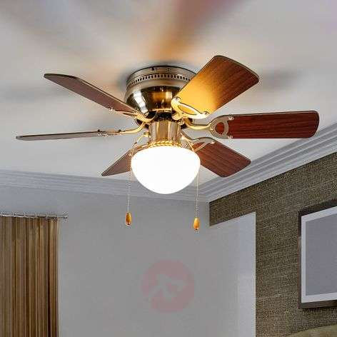 Flavio ceiling fan with light and six blades