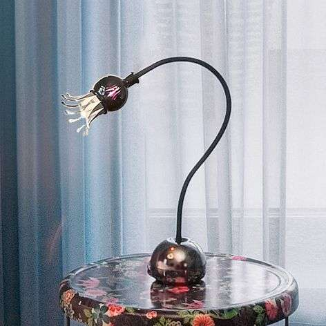 Flexible table lamp Poppy with petal effect