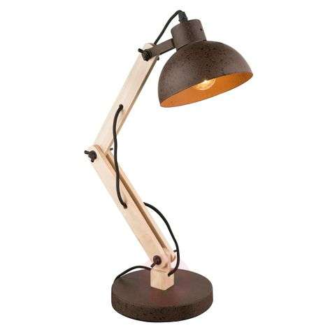 Flexible wooden table lamp Taio