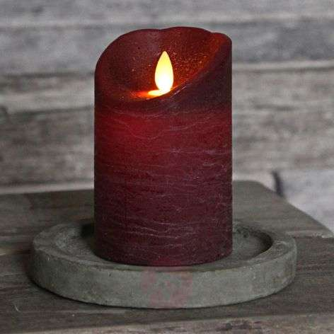 Flickering flame - Glim Frost LED candle, wine red