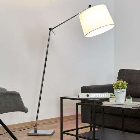 Floor lamp Jolla with fabric lampshade