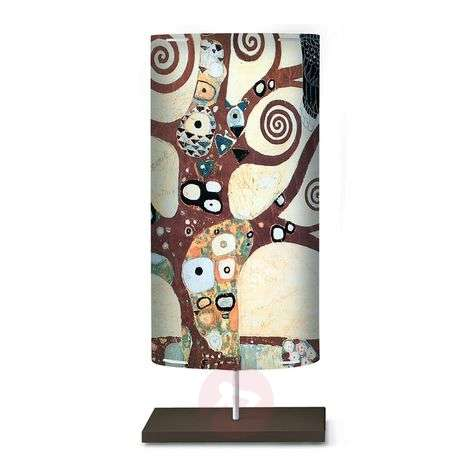 Floor lamp Klimt I with an art motif