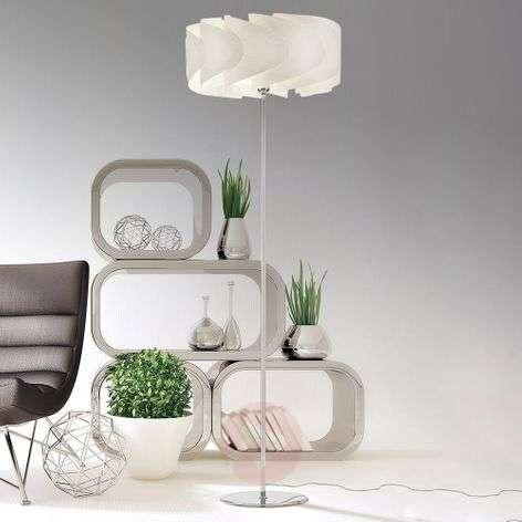 Floor lamp Piantana Ellix in white wood finish-1056077-31