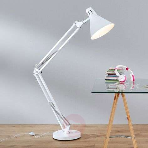 Floor lamp WINSTON in white