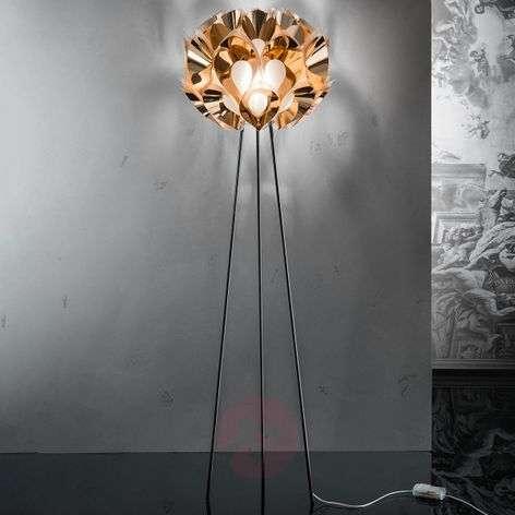 Flora - designer floor lamp in copper