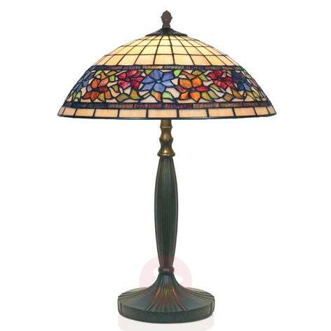 FLORA handmade Tiffany-style table lamp-1032128-31