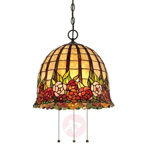 Floral designed Rosecliffe Tiffany pendant light