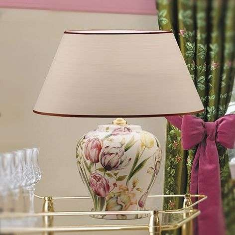 Floral inspired Living table lamp