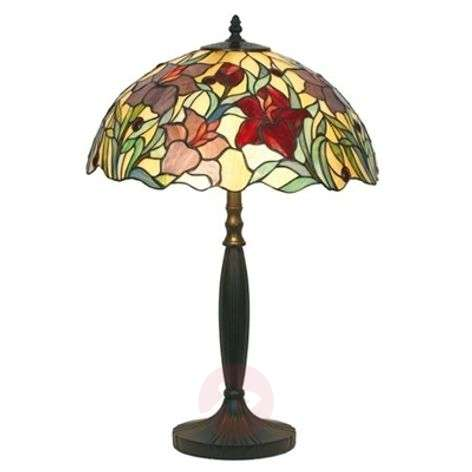 Floral table lamp ATHINA, handmade, 62 cm