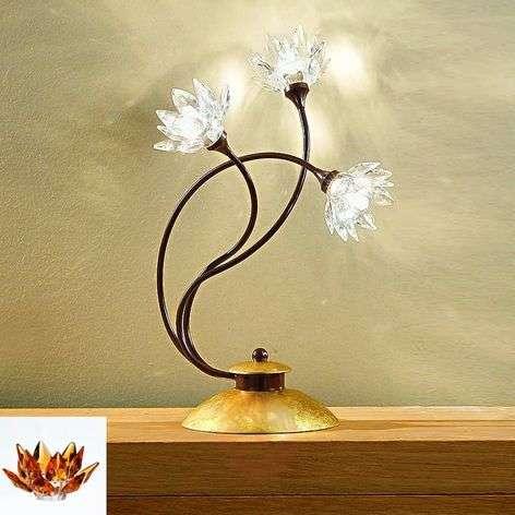 Floral table lamp Fiorella