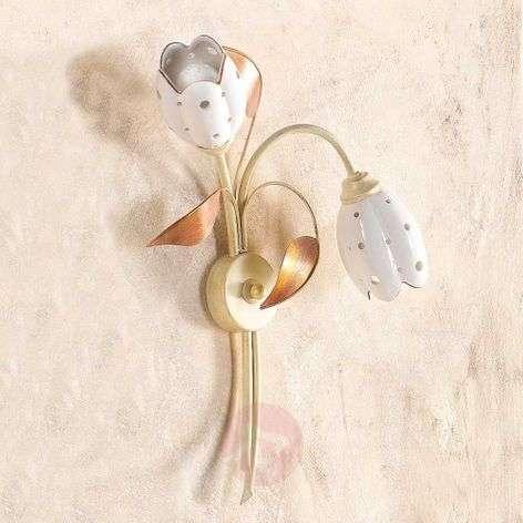 Floral TULIPANO wall light, 2-bulb