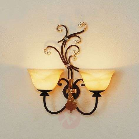 Florence two-bulb wall light