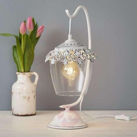 Florinia  Table Light Patinated White