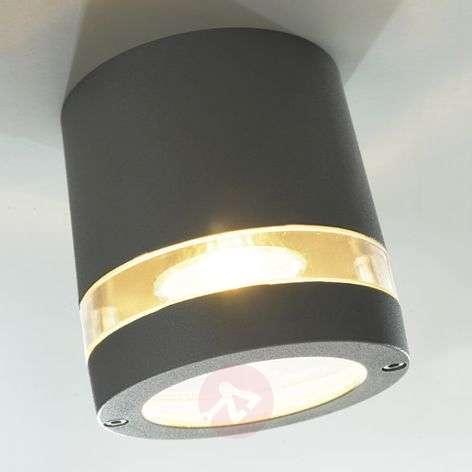 Focus bright exterior ceiling light, anthracite