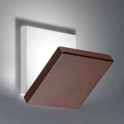 Foldable LED wall light Spy with brown front