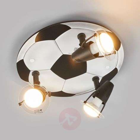 Football ceiling light with 3 bulbs