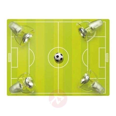 Footie pitch ceiling light with 4 bulbs