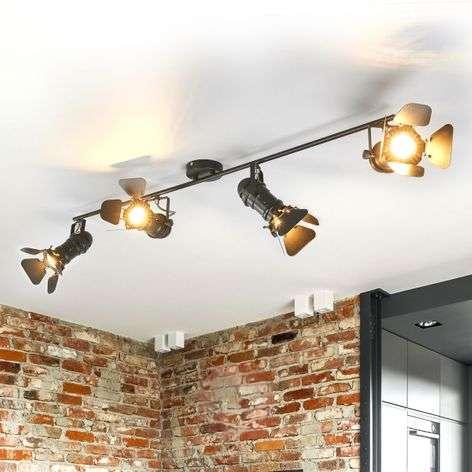 Four-bulb ceiling light Solena, spotlight