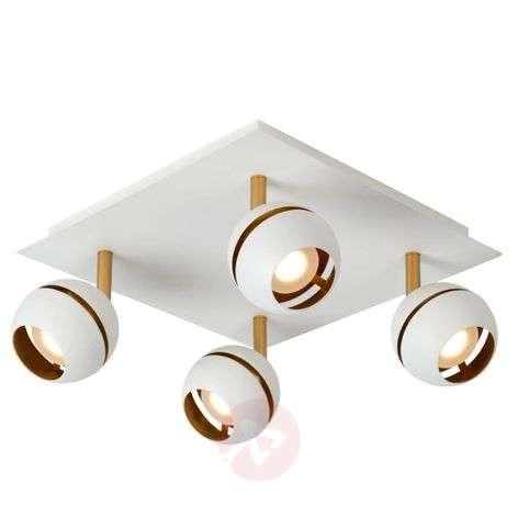Four-bulb LED ceiling lamp Binari in white-6055233-31