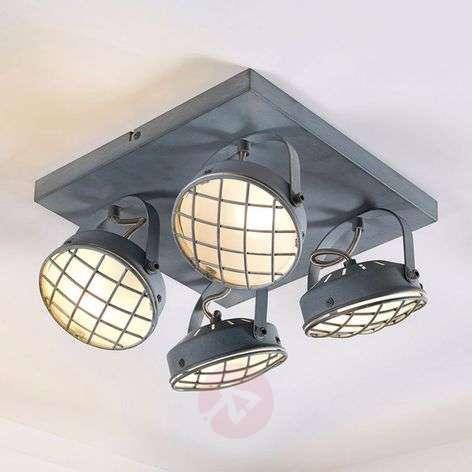 Four-bulb LED ceiling lamp Tamin, smoky grey G9