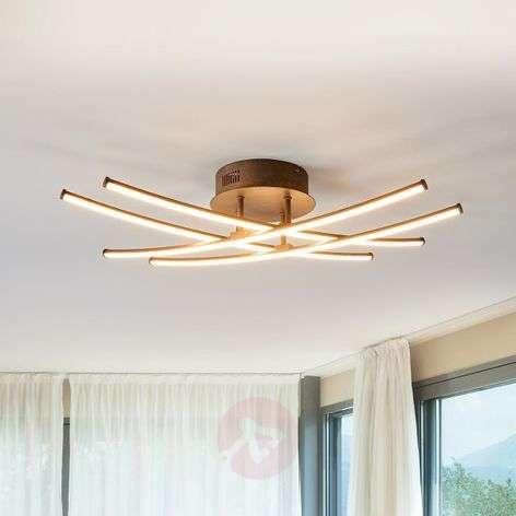 Four-bulb LED ceiling lamp Yael, rust-coloured-9639045-32