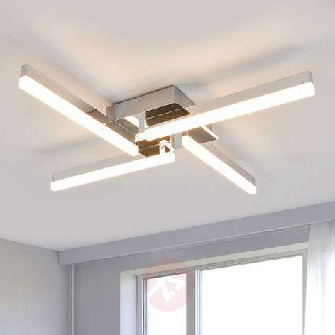 Four-bulb LED ceiling light Patrik, IP44