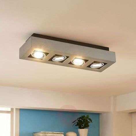 Four-bulb LED ceiling light Vince