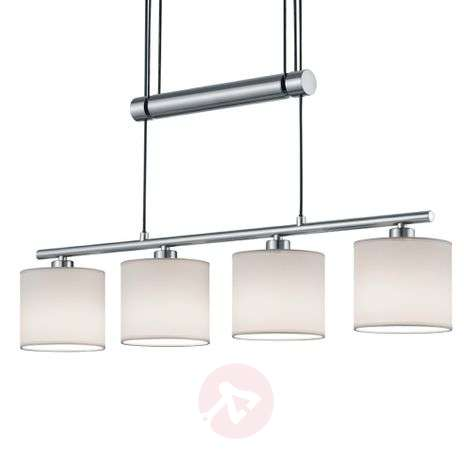 Four-bulb pendant lamp Garda, white-9005268-31