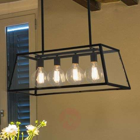 Four-bulb Rose hanging lamp in industrial look