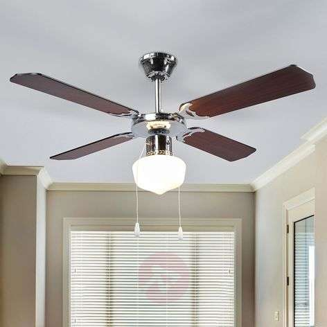 Francesco wenge-coloured ceiling fan with light