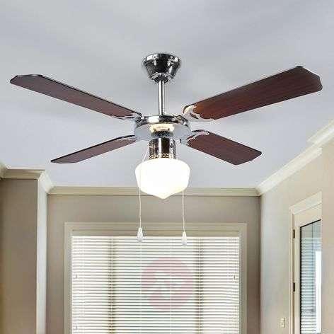 Francesco wenge-coloured ceiling fan with light