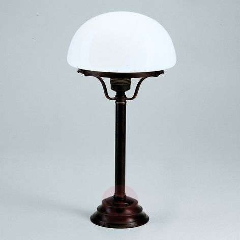 Frank table lamp with antique/rustic appearance