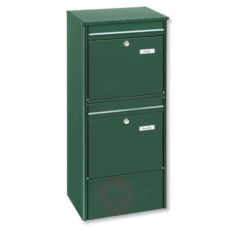 Free-standing double-letter box Jumbo, green