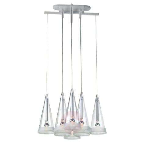 Fucsia pendant light for the dinner table