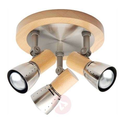 Functional ceiling light JUNNO, 3-bulb