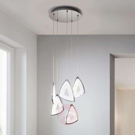 Futuristic-looking LED hanging light Amonde