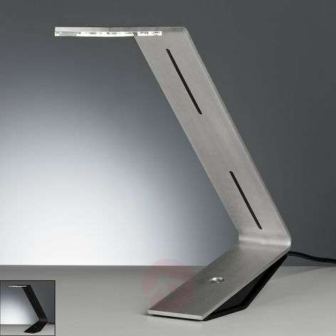 Futuristic-looking LED table lamp Flad