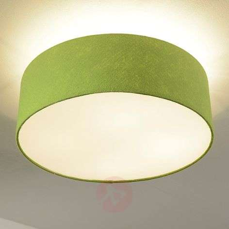 Gala - round ceiling lamp in green, felt screen
