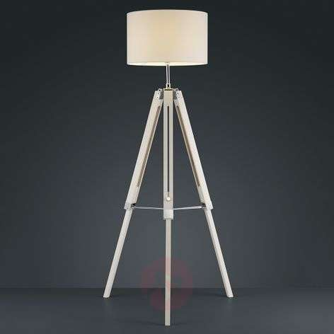 Gent three-legged floor lamp with white lampshade