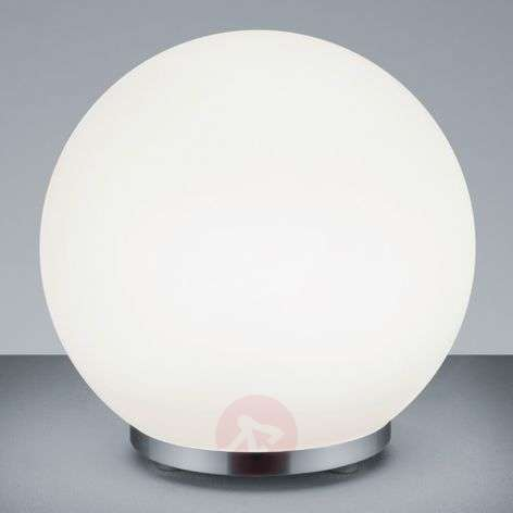 George round glass table lamp with remote control