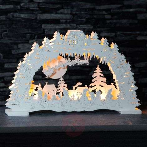 German Christmas - LED candle arch in white