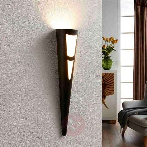 Germo LED wall torch in black