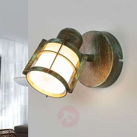 Giorgi wall lamp with a verdigris optic