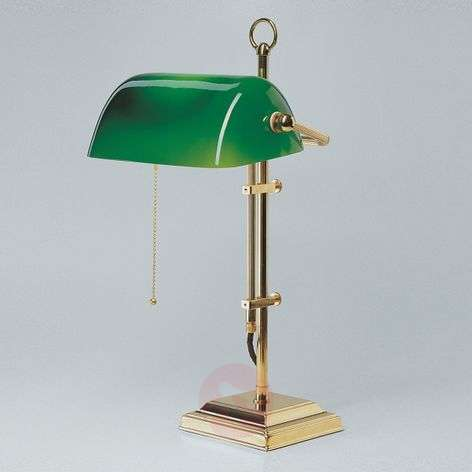 GITA banker's lamp made of polished brass