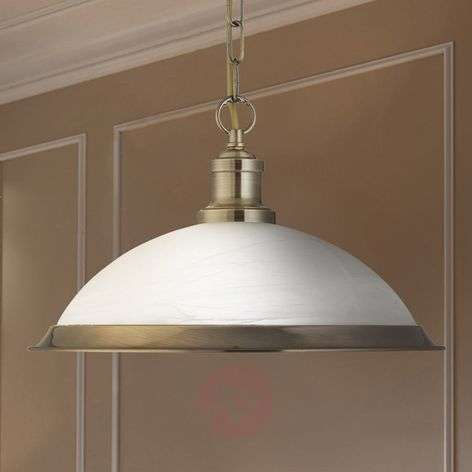 Glass Bistro hanging light in shimmering gold