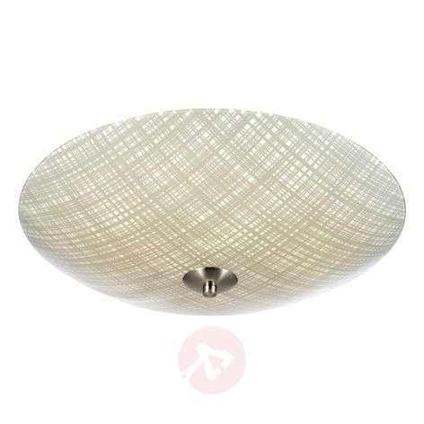 Glass ceiling light Cross LED 43 cm