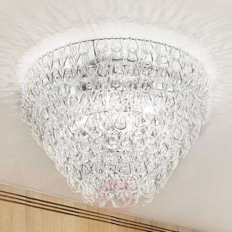 Glass ceiling light GIOGALI, 50 cm