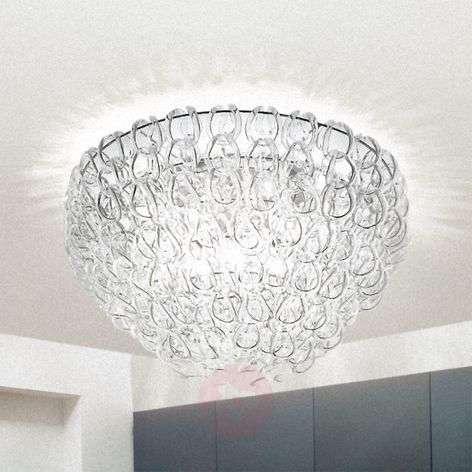 Glass ceiling light GIOGALI, 60 cm
