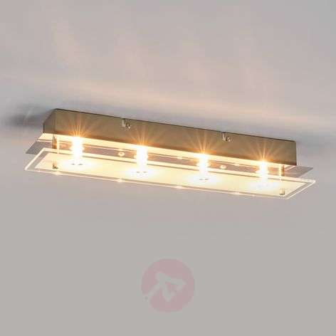 Glass ceiling light Levy with LED lamps