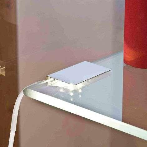 Glass floor light. LED-Clip two pcs. Set- warm w